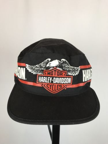 fdf6b80da3a Vintage 80s 90s HARLEY DAVIDSON Painters Hat Cap OSFA HAND MADE IN ...