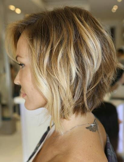 Ombre highlights on an angled bob...love