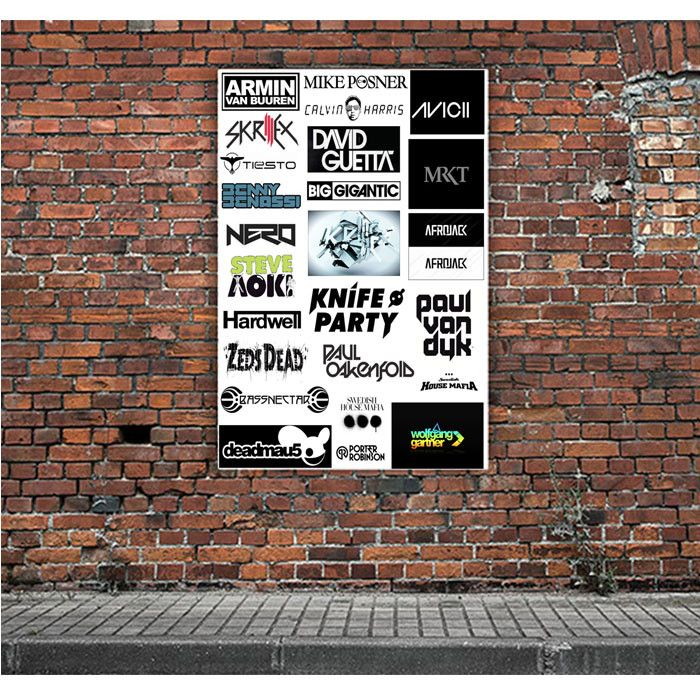 TOP DJ COLLAGE ARTWORK POSTERS