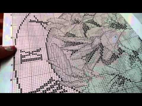 Вышивка крестом. Часы. Процесс. Clock. Embroidery - YouTube