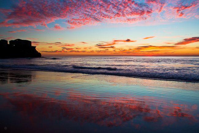 Manly Beach sunrise, double sky (4 Sep 2012)