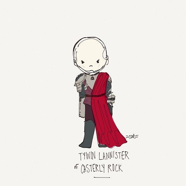 Tywin Lannister of Casterly Rock. #tywinlannister #got #gameofthrones #catplusmouse #customportrait #fashionillustration #illustration #dood...