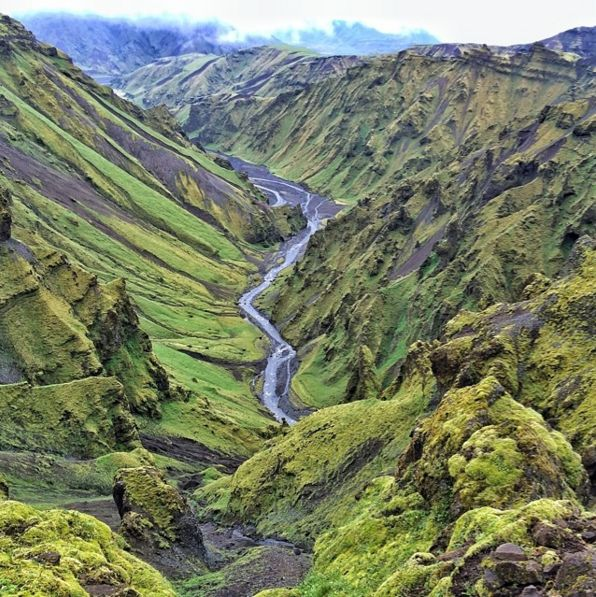 akgil canyon mesmerizing view when hiking around this area south iceland pinterest. Black Bedroom Furniture Sets. Home Design Ideas