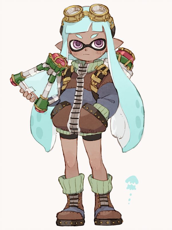 Character Design Forge : Inkling girl splatoon pinterest steam punk fanart
