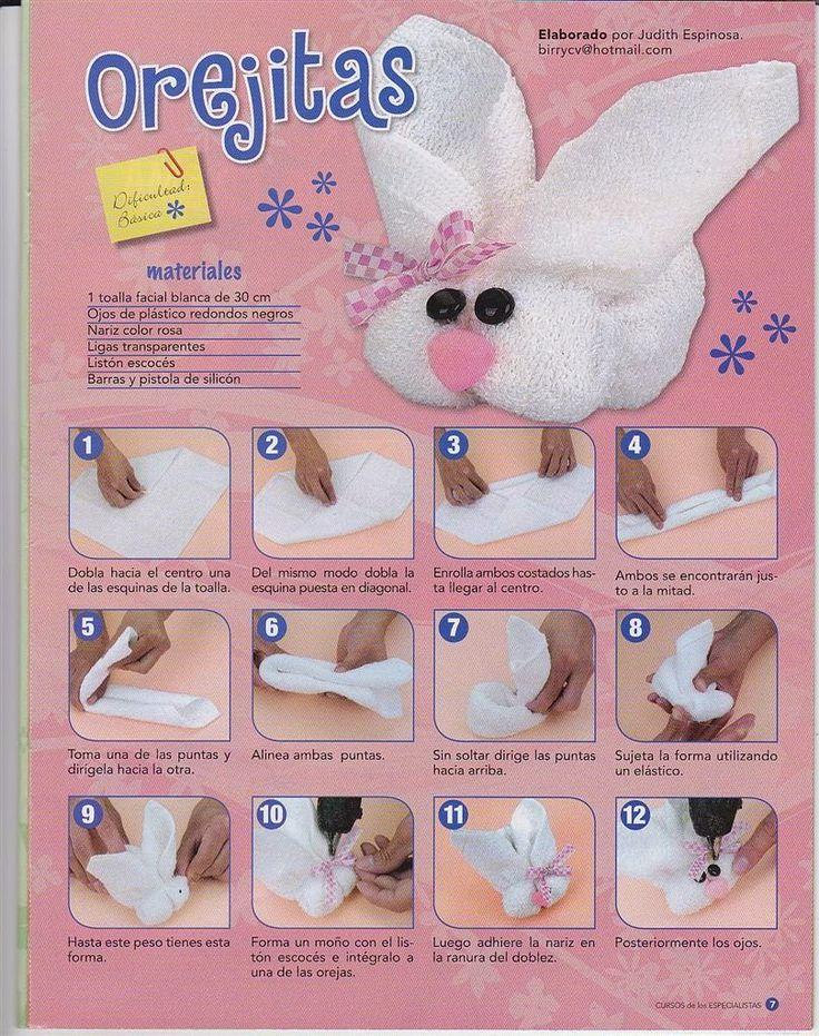 Como hacer un conejo en toalla