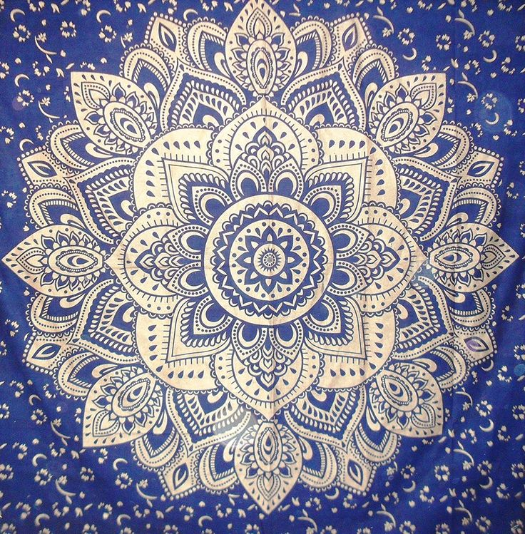 Amazon.com: Traditional Jaipur Large Golden Ombre Mandala Tapestry, Navy Blue Lotus Indian Wall Hanging, Hippie Dorm Room Decorations, Bohemian Bedding, Gypsy Picnic Throw, Boho Beach Blanket, 88x95 inches: Home & Kitchen