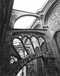 Clerestory, flying buttress, Chartres Cathedral- Chartres, Eure-et-Loire, France