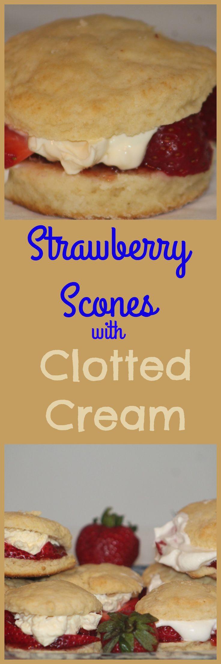 The best Irish Scones wih Srawberries and Clotted Cream