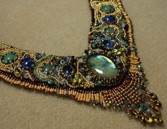 Soul sister s bead embroidery necklace