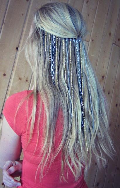 DIY chain headband tutorial  whatshewears365.blogspot.com