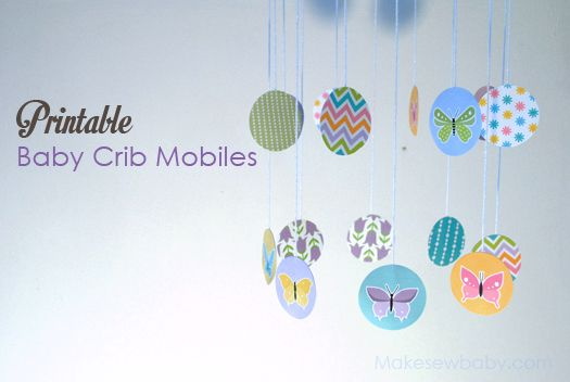 Printable Nursery Baby Mobiles Butterfly and more