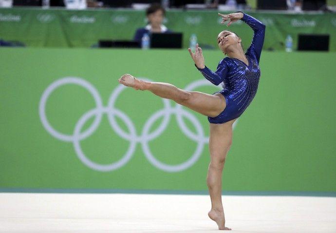 Flavia Saraiva ginástica artística final equipes Olimpíada Rio 2016 (Foto: Damir…