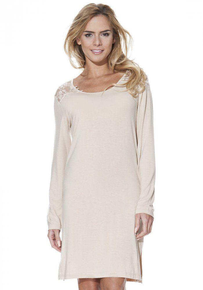 Luxusní noční košilka ANNA s dlouhým rukávem je lehoučká jako pírko, takže ji na těle ani nepocítíte..