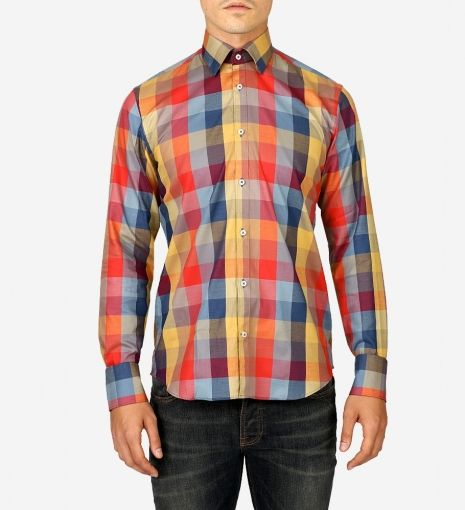 Multi Check Shirt by Blue Industry:   Add this Blue Industry multi-coloured, checked shirt to your weekend roster and cement a spot in the halls of street style stardom. The unexpected palette and contemporary fit make for a piece that immediately becomes an off-duty staple. Sartorially smart when worn alone with dark denim, or slightly dressed up with an informal blazer.   GOTSTYLE.ca