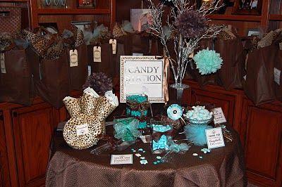 cheetah print wedding theme | ... Tiffany Blue, Chocolate,  Leopard Themed 1st Birthday Party