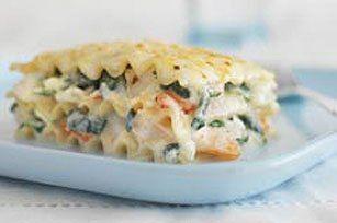 Salmon Lasgna/ white cream/ spinach recipes