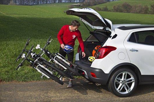 Opel Mokka SUV integrates bike rack into the bumper