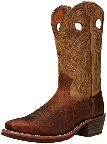 Ariat Men's Heritage Roughstock Square Toe Western Boot, Earth/Brown Bomber, 10 D US - http://authenticboots.com/ariat-mens-heritage-roughstock-square-toe-western-boot-earthbrown-bomber-10-d-us/