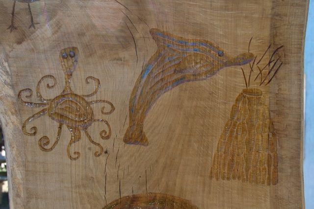 varnished carvings