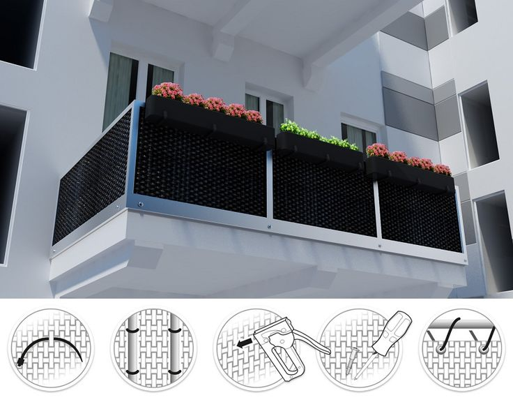 artificial rattan planters for balcony