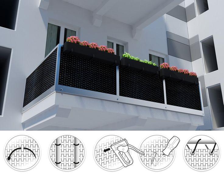 artificial rattan planters for balcony