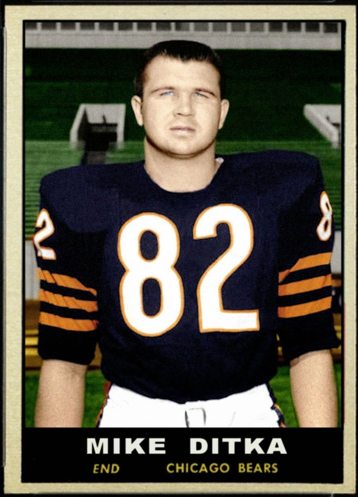 Cards That Never Were: 1961 Topps Mike Ditka,  Chicago Bears, Football Cards That Never Were