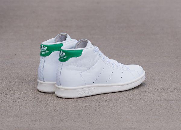 Adidas Stan Smith Mid White  Green  Chalk White (4)