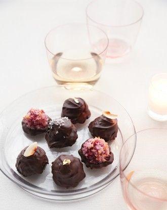 Raspberry Macaroons in Chocolate Shells Recipe