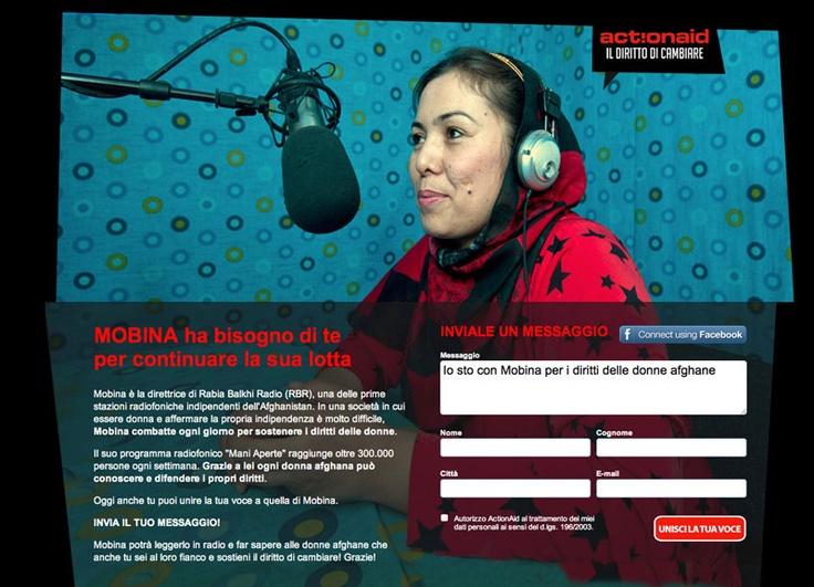 #Slash si occupa delle #Digital #PR della #campagna #online #Mobina di #ActionAid - #article #marketing  #seeding