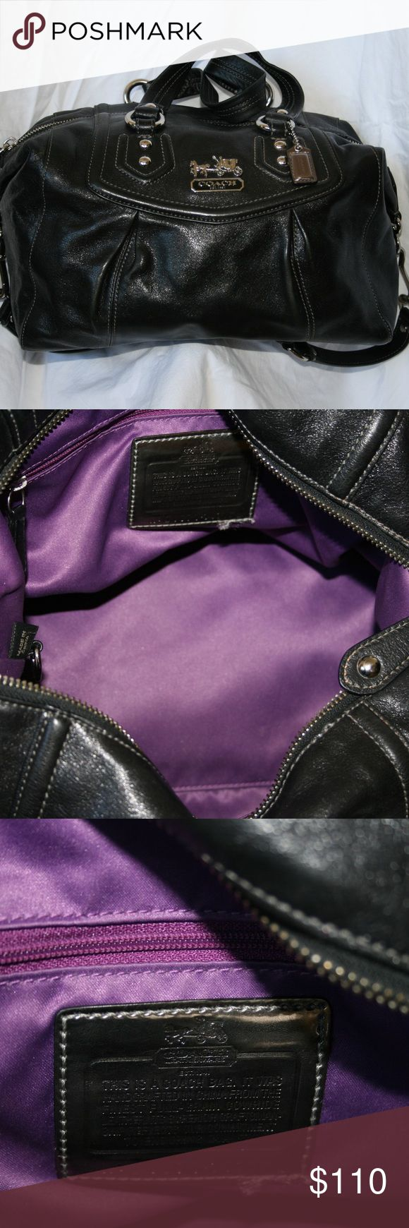 Large Black Leather Sabrina Coach Satchel Coach Black Sabina Satchel Coach Bags Satchels