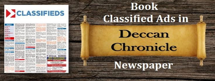 Now book Ad in Deccan Chronicle Newspaper Classifieds to Reach Your Target Audience Effectively! Visit:- http://blog.releasemyad.com/2016/12/advertise-in-dc-classifieds-to-reach-your-target-audience-effectively/