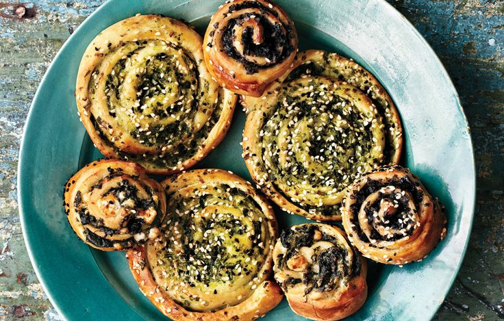 These savory swirls are easy to prepare and taste best served warm.