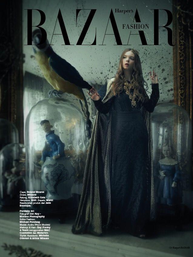 """as Head Stylist Assistant, """"Lost in a Fairy Tale"""" - Harper's Bazaar December 2016"""