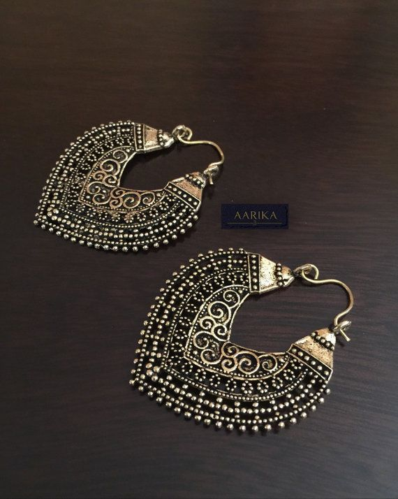 Bali Earring in Antique bronze finish/ bollywood by AarikaJewelry