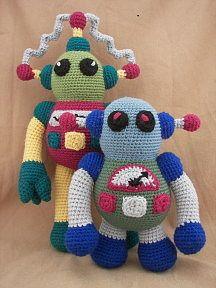 Rockin' Robots Combo Crochet:     http://www.craftydeb.com/view/MFS-Rockin-Robots-Combo-Crochet-Amigurumi-Robot-Pattern#
