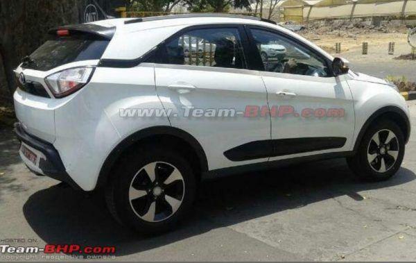 Launch-ready Tata Nexon compact SUV spied in new White colour