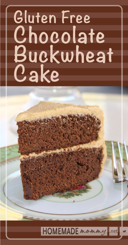 Gluten Free Chocolate Buckwheat Cake - Brilliant! No weird gluten free flour mixes at ALL! Decadent and Delicious!