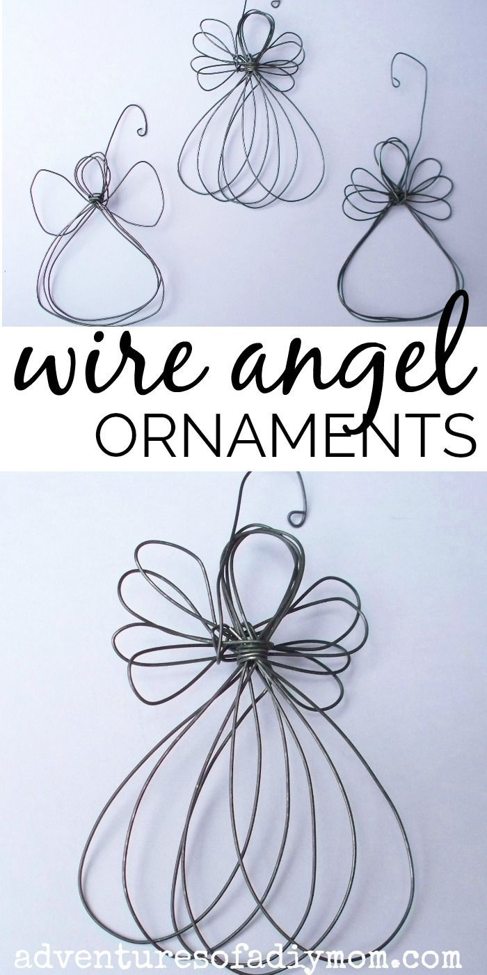 How To Make A Wire Angel Ornament Nativity Ornament Series Easy Christmas Diy Angel Ornaments Angel Ornaments Diy