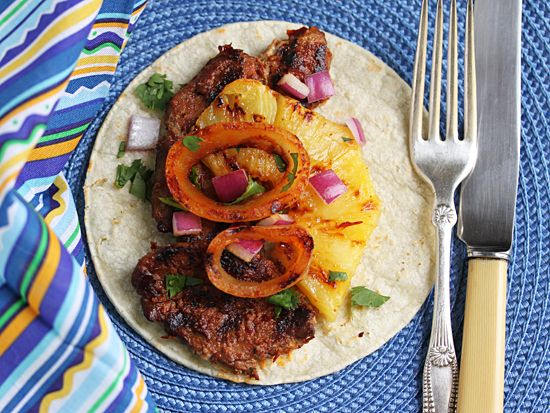 Post image for Pork Tacos with Achiote & Grilled Pineapple