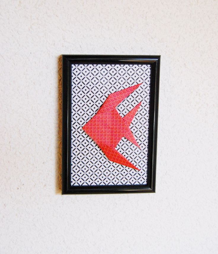 Cadre déco en Origami Design Fish : Décorations murales par petitspapierscelestes