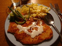 national dish of AUSTRIA is Schnitzel with Spatzel