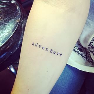 This wonderful word:   41 Beautiful Tattoos That Will Spark Your Travel Bug