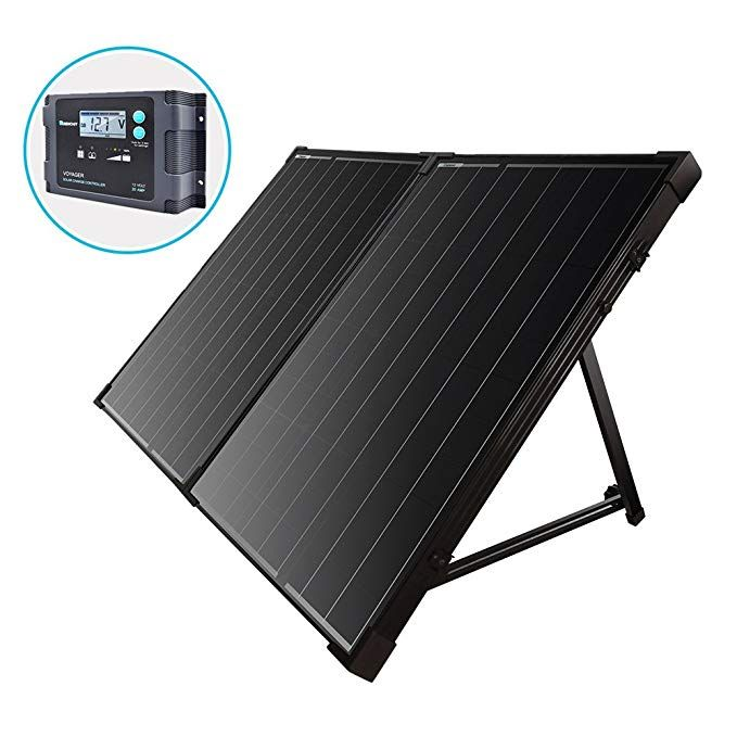 Renogy 100 Watt 12 Volt Monocrystalline Foldable Portable Solar Suitcase With Voyager Waterproof Charge Solar Power Kits Off Grid Solar Power Best Solar Panels