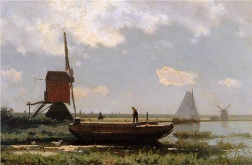 River landscape - Johan Hendrik Weissenbruch