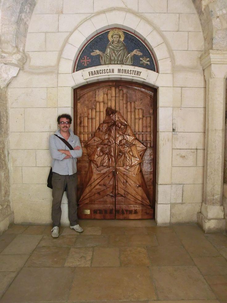 maranatha - portale ligneo per la Basilica della Nativita in Betlemme