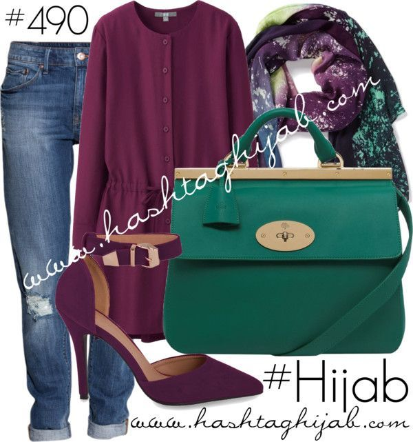 Hijab Fashion 2016/2017: Hashtag Hijab Outfit #490  Hijab Fashion 2016/2017: Sélection de looks tendances spécial voilées Look Descreption Hashtag Hijab Outfit #490