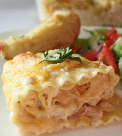 Chicken Alfredo Lasagne Roll Ups -  http://thegardeningcook.com/chicken-alfredo-lasagne-roll-ups/