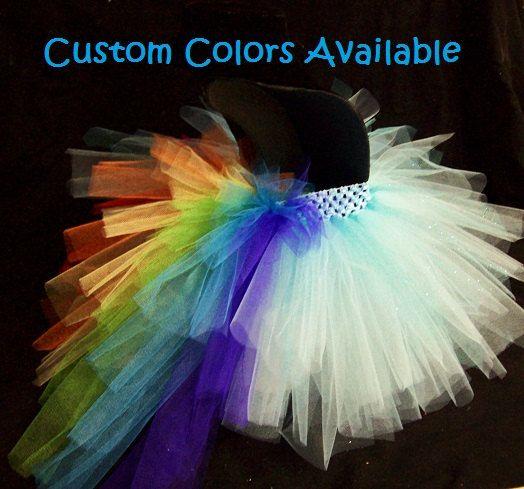 Check out RAINBOW PONY Tutu Skirt with Rainbow Bustle Tail, Rainbow Dash, Girls Tutu, Toddler, Pony Costume, Rainbow Tutu Skirt on wingsnthings13