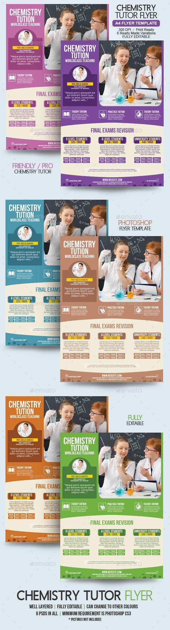Chemistry Teacher Flyer Template