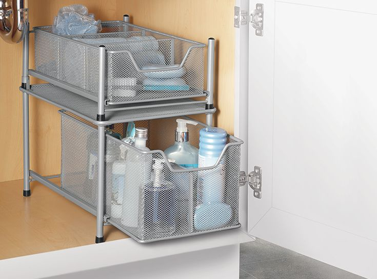 5 Tips for Maximizing Your Under-Sink Space: Learn how to organize your under sink spaces, whether standard cabinetry or more MacGyver-style storage containers, Bed Bath & Beyond has you covered with these 5 home organization tips
